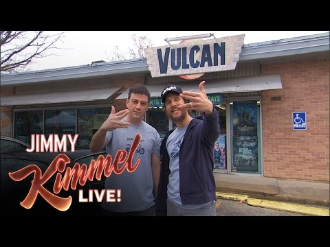 Jimmy Kimmel made a commercial for Vulcan Video in Austin.