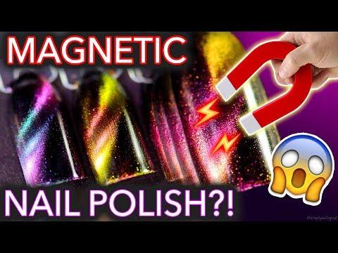 Magic MAGNETIC Nail Polish?!  (maybe don't wear metal)