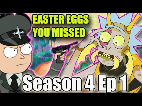 Rick and Morty Season 4 Episode 1 Easter eggs & Missed Jokes