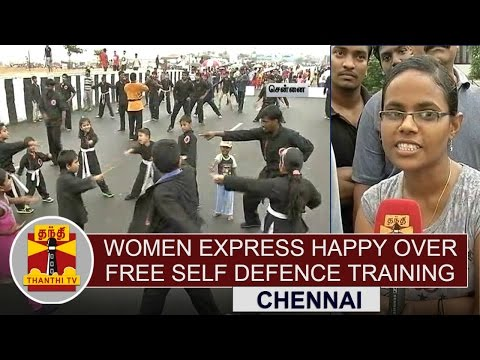 Women-express-Happy-over-Free-Self-Defence-Training-Program-Conducted-in-Chennai-Thanthi-TV