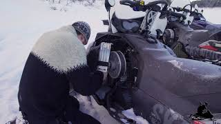 5. How to replace drive belt on a Skidoo Skandic 2017 snowmobile
