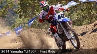 10. 2014 Yamaha YZ450F First Ride - MotoUSA