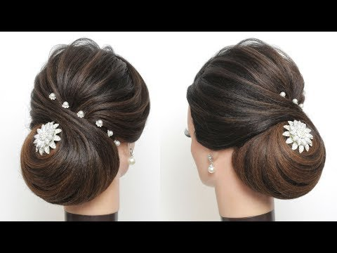 New hairstyle - New Wedding Hairstyle. How To Do A Low Bun With Long Hair