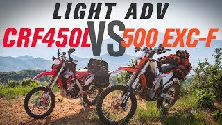 7. Honda CRF450L vs KTM 500 EXC-F Light Adventure Bike Shootout