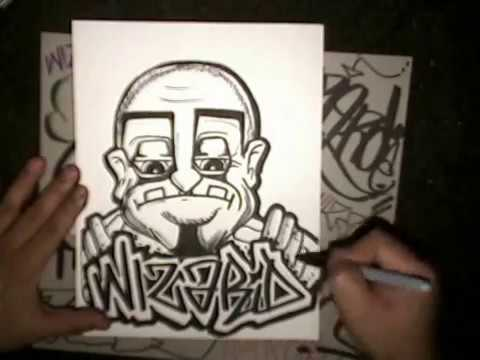 Drawing Wizard Graffiti and Graffiti characters.wmv