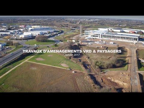 Aménagement du parc d'activités économiques de Lavallot Nord, janvier 2017
