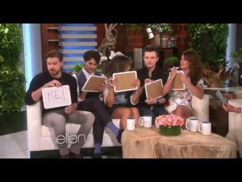 Glee Cast Playing Game [Class Superlatives] (видео)