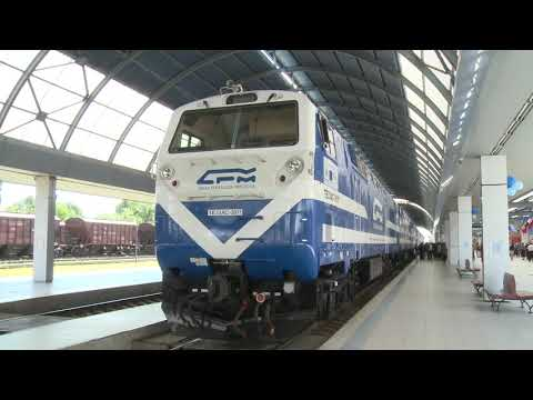 Head of state welcomed new locomotives for the Moldovan Railway