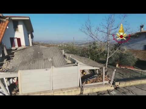 Frana di Ponzano: le nuove immagini dal drone VIDEO