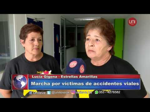 Marcha por víctimas de accidentes viales