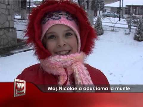 Moș Nicolae a adus iarna la munte