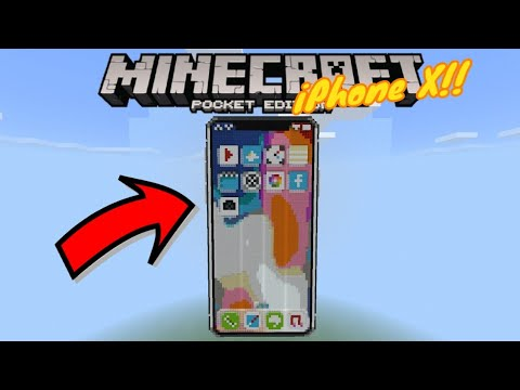 iPhone X: I Bought Myself a New Expensive Phone!! (YouTube, Facebook...) - Map (Redstone) - MCPE
