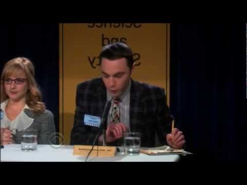 The Big Bang Theory Season 4 episode 13 press conference scene