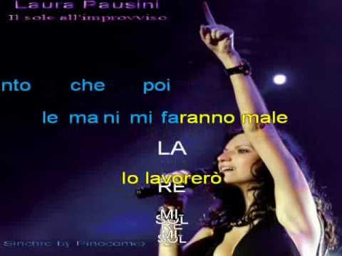 , title : 'Laura Pausini - IL sole all'improvviso Karaoke + accordi'