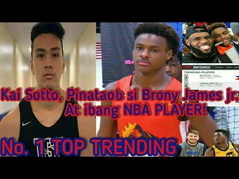 Kai Sotto, Pinataob si Brony James jr. At ibang NBA PLAYER, Dahil nag No.1 Topic Trending sya sa US.