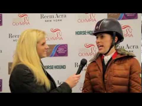 Charlotte Dujardin's reaction to new world record at Olympia [VIDEO]