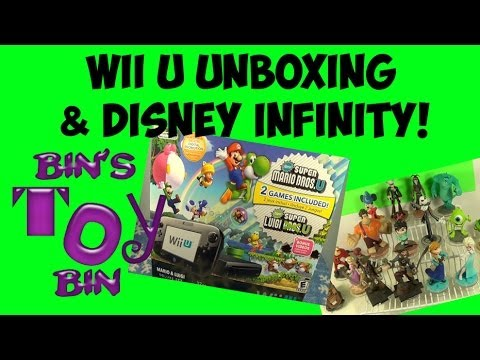 bin - We got a Wii U! We do an unboxing of our Wii U (a late Christmas present... we couldn't find one in December!). This is the version that includes the Super M...