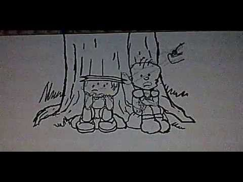 animation - Hand drawn animation by me. Sounds, voices and music by me. My niece done the woman's voice.