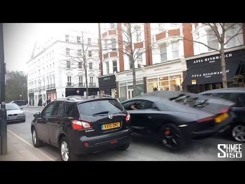 Lamborghini Aventador Crashes in London