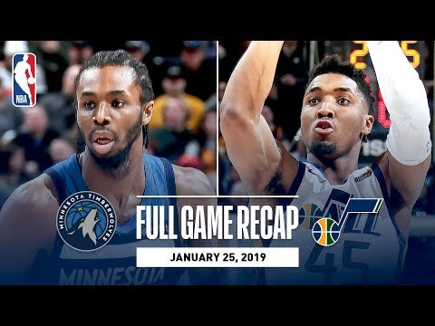 Video: Full Game Recap: Timberwolves vs Jazz | Mitchell and Gobert Record Double-Doubles