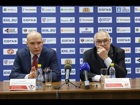"Пресс-конференция - ""Автомобилист"" 2:1 ""Металлург"" (Новокузнецк) (6.10.2015)"