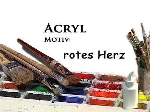 Acrylmalerei – Motiv: rotes Herz