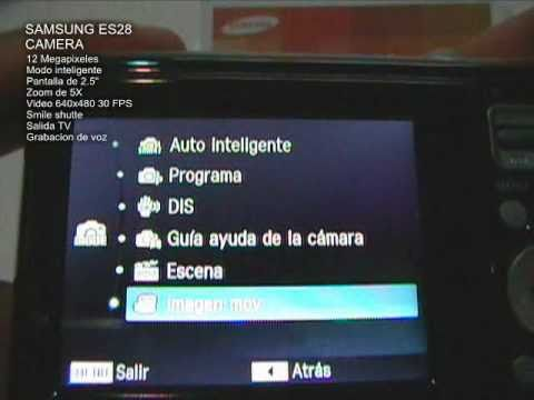 SAMSUNG ES28 CAM (Video Product features) (Video caracteristicas de producto)