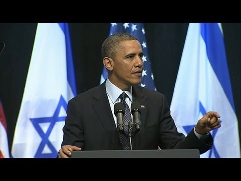 PRESIDENT OBAMA TALKS PEACE IN THE HOLY LAND