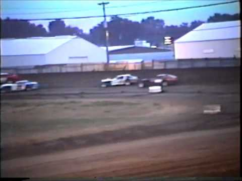 3rd Heat Race IMCA Modified's  Independence Motor Speedway 1980's?