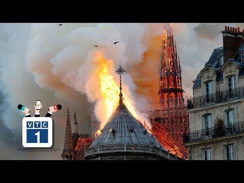 Cư dân mạng nuối tiếc sau vụ cháy nhà thờ Đức Bà - Thời lượng: 2:08.