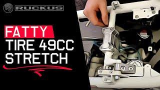 8. Honda Ruckus TRS  fatty tire 49cc engine stretch mount kit install