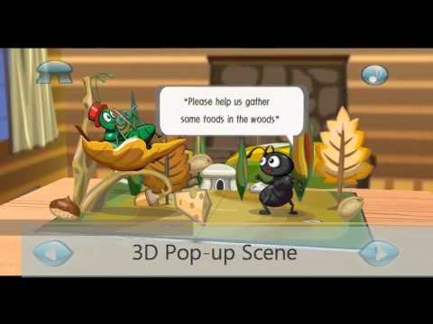 Video of Ant&Grasshopper:3D Story Book