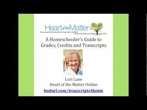 Homeschool Transcript Solution - Recommendation from Lori Lane of Heart of the Matter