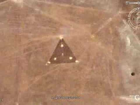 Triangle UFO Caught by Google Earth Australia