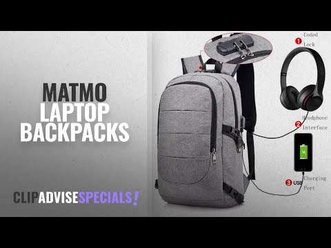 Matmo Laptop Backpacks [2018]: MATMO Business Laptop Backpack with USB Charging Port, Coded Lock and