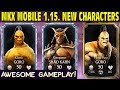 Mkx Mobile 1 15 Update All New Characters Gameplay  Review Bugged Brutality Shao Kahn Goro