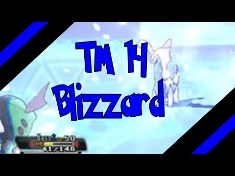 How To Get TM 14 - Blizzard In Omega Ruby and Alpha Sapphire (Oras) )
