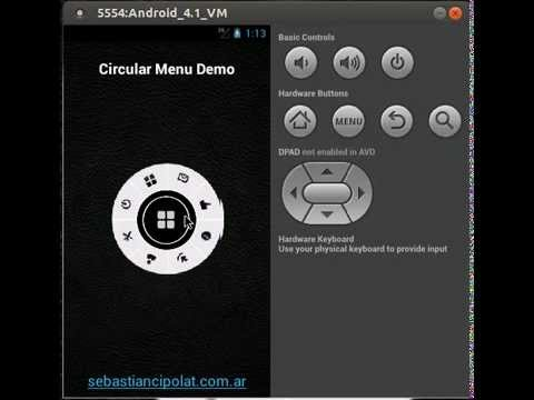 Video of Circular Menu Demo
