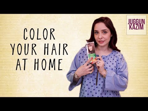 How to Color Your Hair at Home Using Garnier Color Naturals  Hair Color Tutorial  Juggun Kazim
