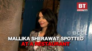 Mallika Sherawat spotted at a restaurant