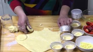 Тарталетки с ореховым муссом