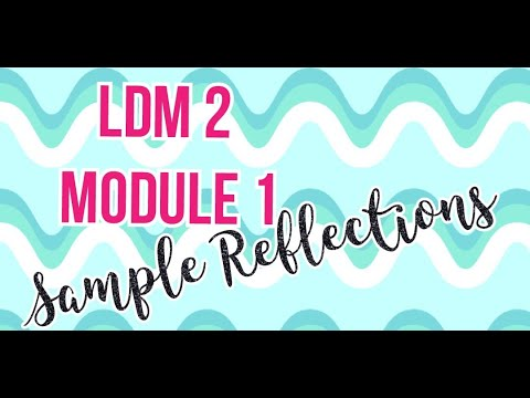 LDM 2 FOR TEACHERS (MODULE 1) SAMPLE REFLECTIONS II ARA KRISTINE