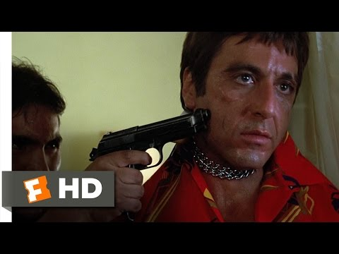 movieclips - Scarface Movie Clip - watch all clips http://j.mp/yFtoj3 click to subscribe http://j.mp/sNDUs5 After watching his friend carved up by a chainsaw, Tony (Al Pa...