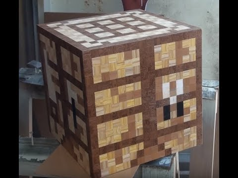 Minecraft Crafting Table - How to Make Toys in Real Wood