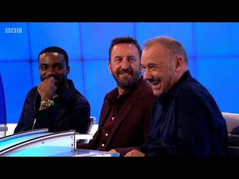 Bob Mortimer describes the use of a gaming chair, and a 'Fuji 9' (Would I Lie to You?, BBC)