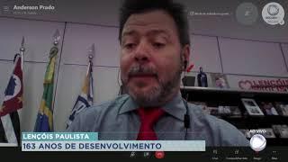 Lençóis Paulista completa 163 anos e prefeito Anderson Prado comemora