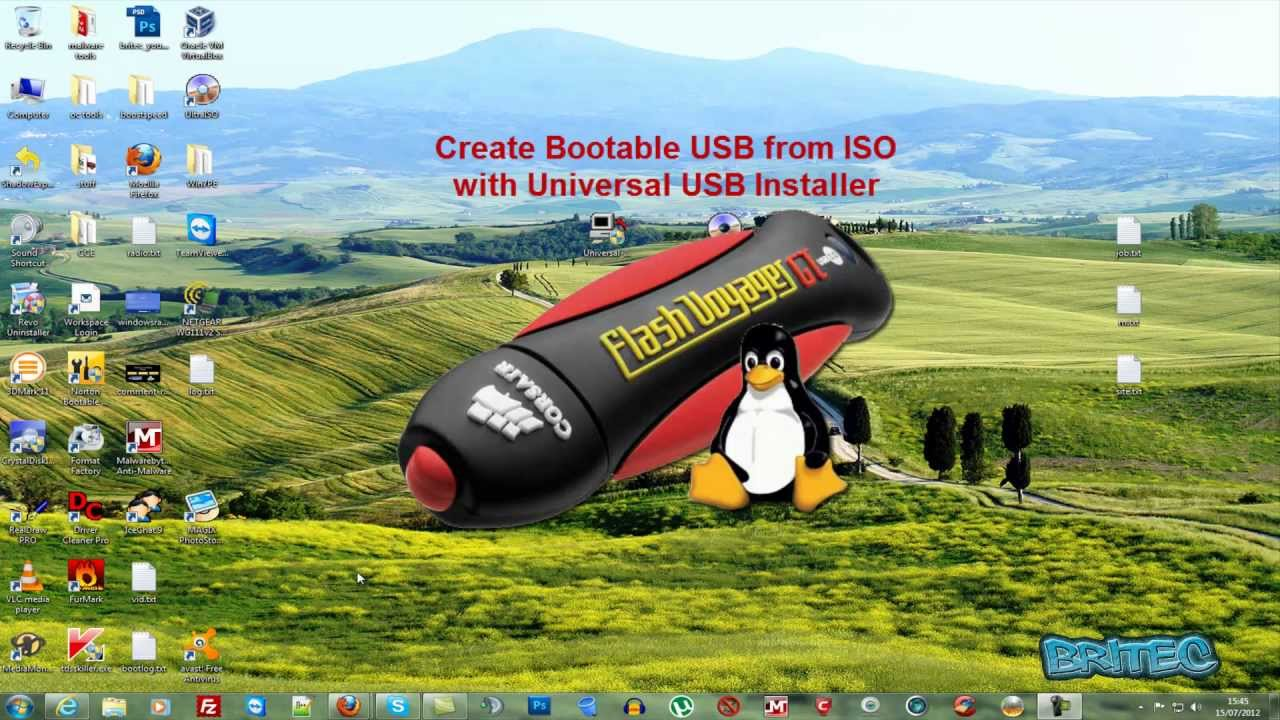 Create Bootable USB from ISO with Universal USB Installer