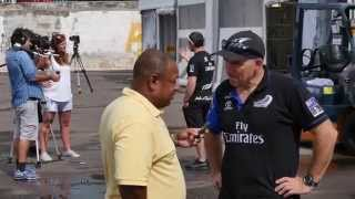 It has been all go in Bermuda for the Emirates Team New Zealand team setting up the base, putting the boat together, checking...