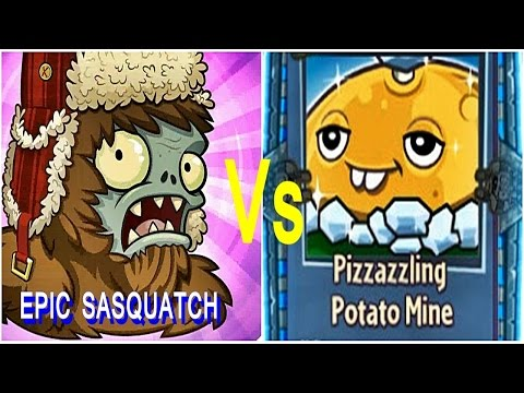 Plants vs Zombies Garden Warfare 2: Pizzazzling Potato Mine Vs EPIC SASQUATCH!- Gameplay 2016