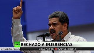 Venezuela acusa a Chile y Colombia de intervenir en sus asuntos internos